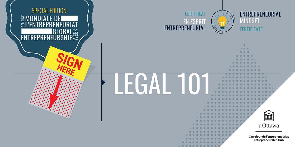 CEE: Conseils juridiques   EMC: Legal 101 Workshop