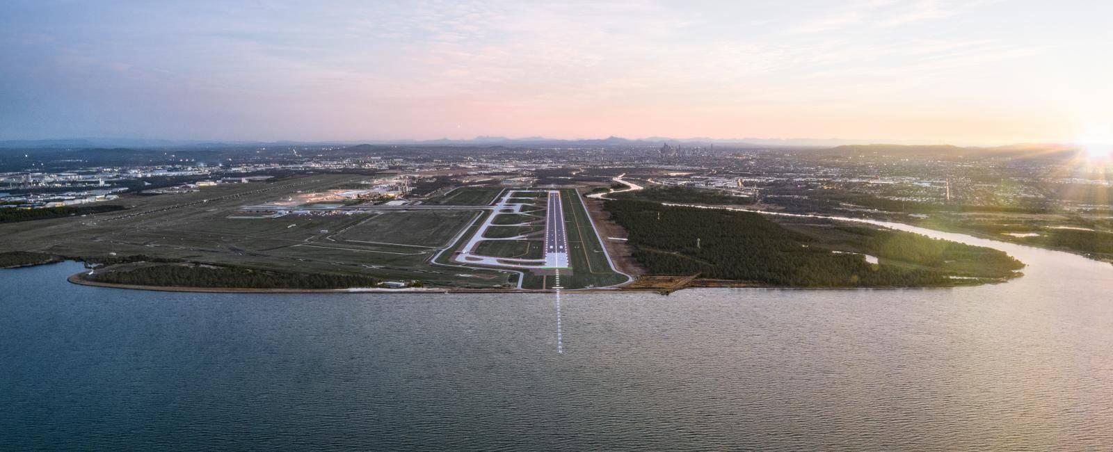 Brisbane's-New-Runway_Dusk-Render