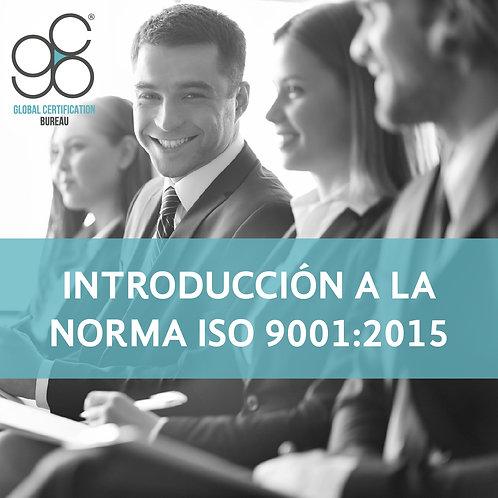 Introducción a la Norma ISO 9001:2015