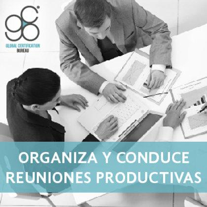 Organiza y Conduce Reuniones Productivas