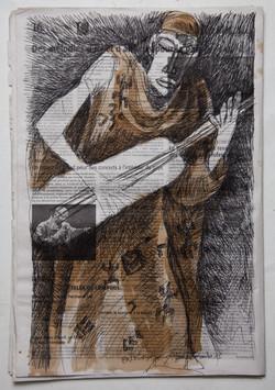 le maitre du Ngoni-28,5x43