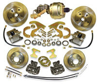 37-66 Lincoln Front and Rear Disc Brake Conversion Booster combo