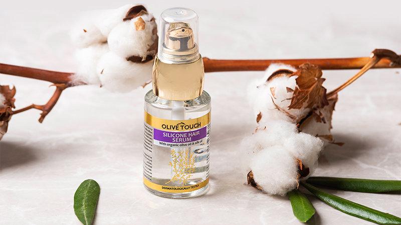 Ορός Σιλικόνης για τα μαλλιά με βιολογικό λάδι ελιάς & έλαιο μεταξιού 30ml