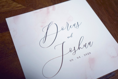 Darling Stationery - Rose gold blush wat