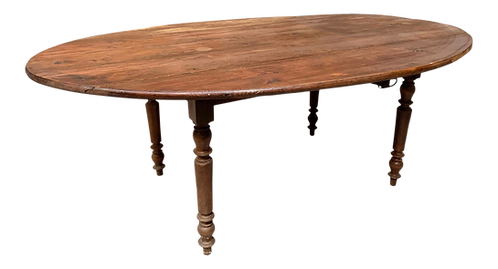 Large Oval Pine Drop Leaf Dining Table