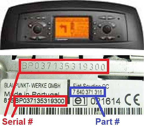 FIAT PUNTO 188 NAVradio code