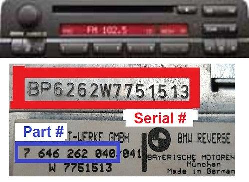 BMW BUSINESS CDradio code
