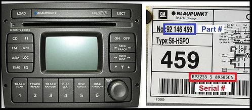 Holden SYS radio code