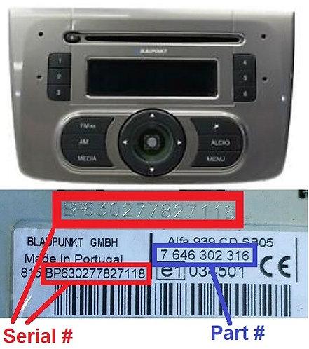ALFA 955 SB08 JAPANradio code
