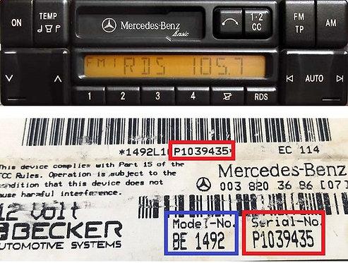 Mercedes Becker Basic 24v radio code