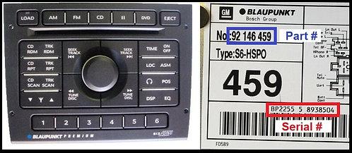 Holden PREMIUM SYS.6radio code