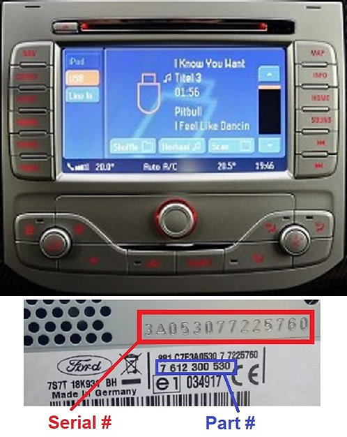 Ford Travelpilot NX HSRNS radio code