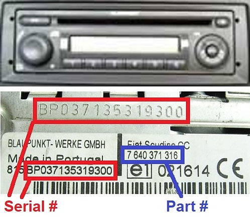 FIAT Blaupunkt DOBLO 223 CD 250 cdradio code