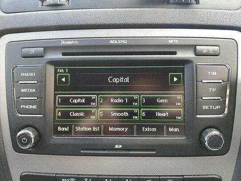 Skoda Bolero radio code