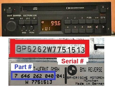 BMW BAVARIA ELECTRONIC CD IIradio code