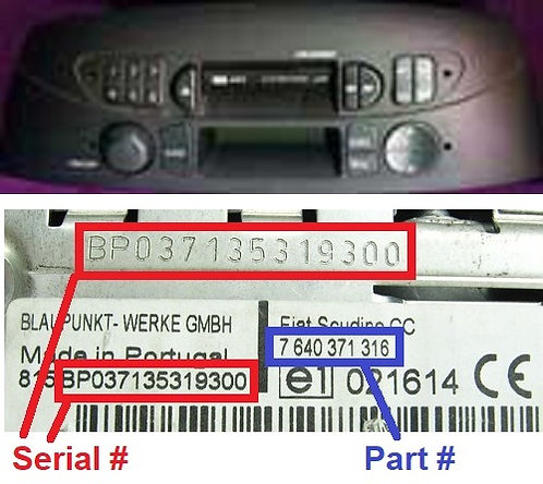 FIAT PUNTO LOW radio code