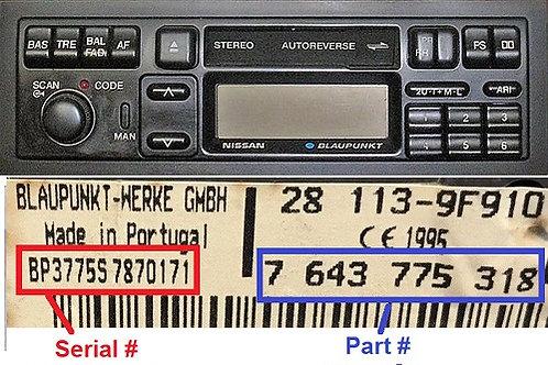 NISSANBlaupunktradio code