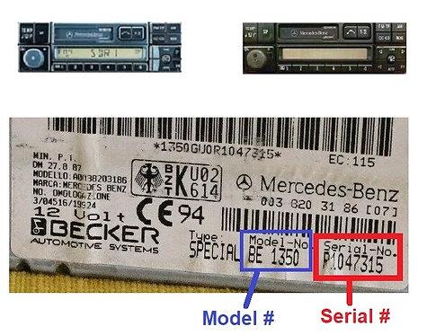 Mercedes Becker Special 24v radio code