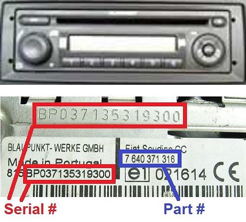FIAT PANDA 169 CDradio code