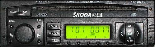 Skoda SK1162 radio code