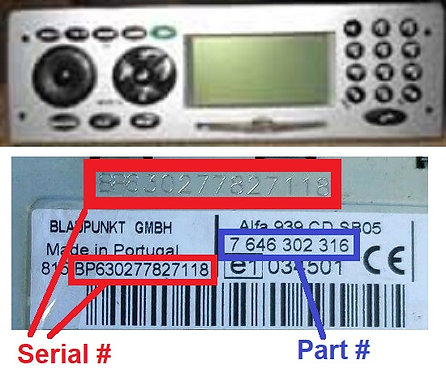ALFA 156 932 CONNECT radio code