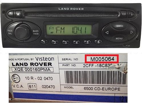Land Rover Visteon 6500 cd radio code