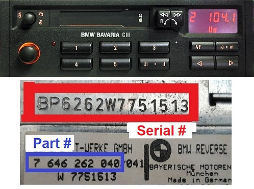 BMW BAVARIA C IIIradio code