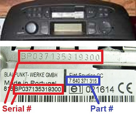 FIAT PUNTO MIDradio code