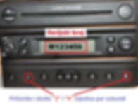 Land rover visteon FL3 FL5 radio code serial num
