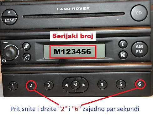 Land rover Visteon FL3cd  FL5cd radio code