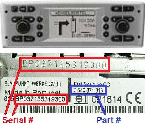 FIAT Multipla186 Connect navradio code
