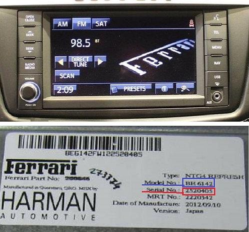 Ferrari becker NTG4 refresh BE6141 BE6142 BE6143 BE6144 BE6145 radio code