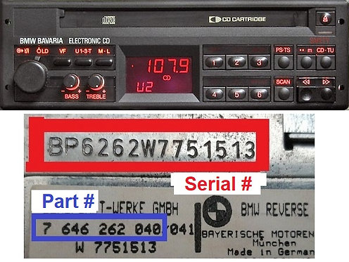 BMW BAVARIA ELECTRONIC CDradio code