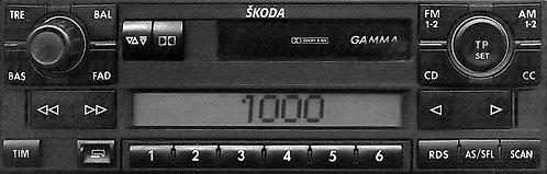 Skoda Gamma radio code