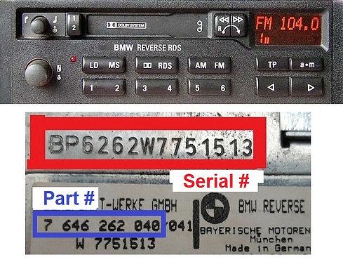 BMW BAVARIA C22 RDSradio code