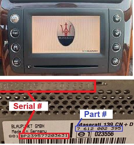 Maserati Blaupunkt M139radio code