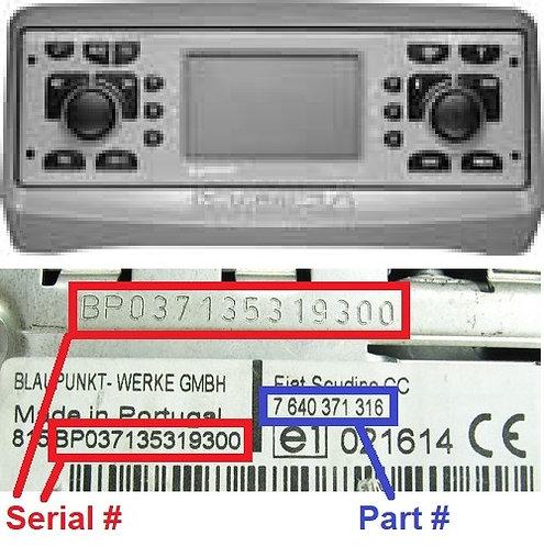 FIAT Multipla186 navradio code