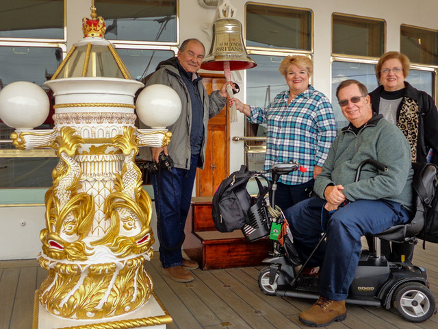 The ship's bell on the Royal Yacht Britannia