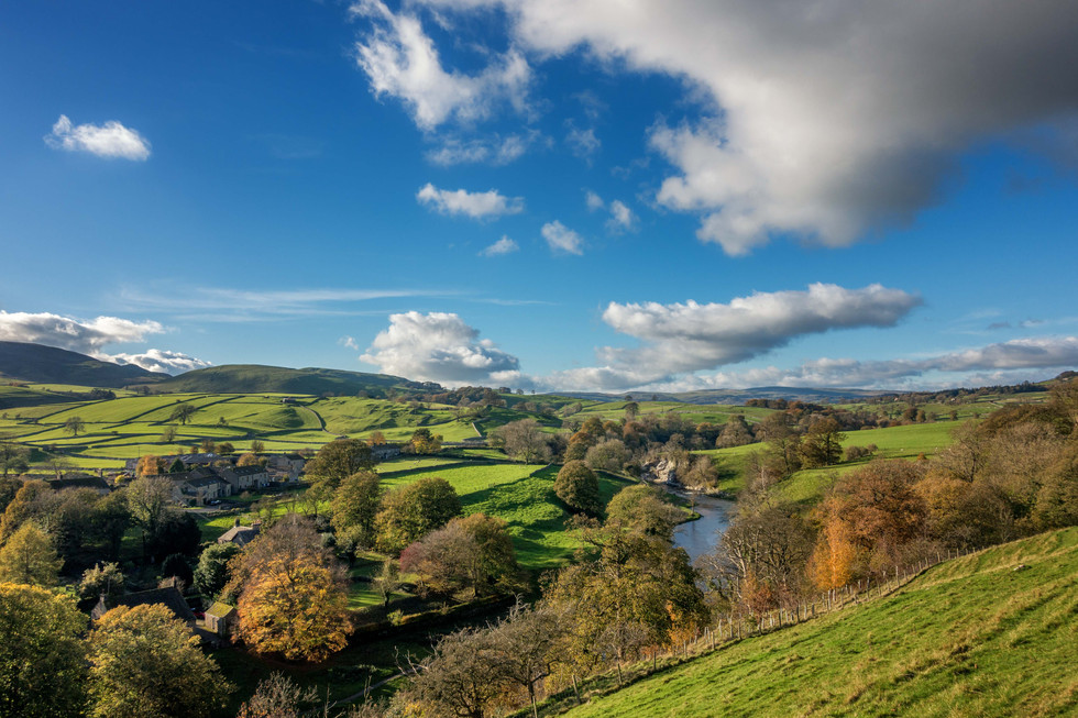 The beautiful Wharfedale valley