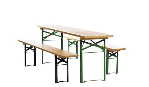 Biertischgarnitur mit Tisch und 2 Bänken | mieten