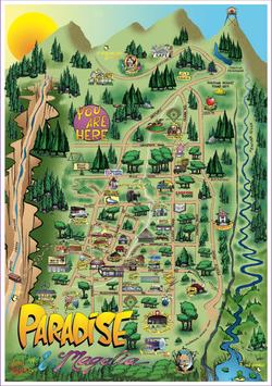 Paradise, CA map.