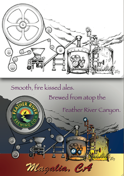Promotional art. Brewery.