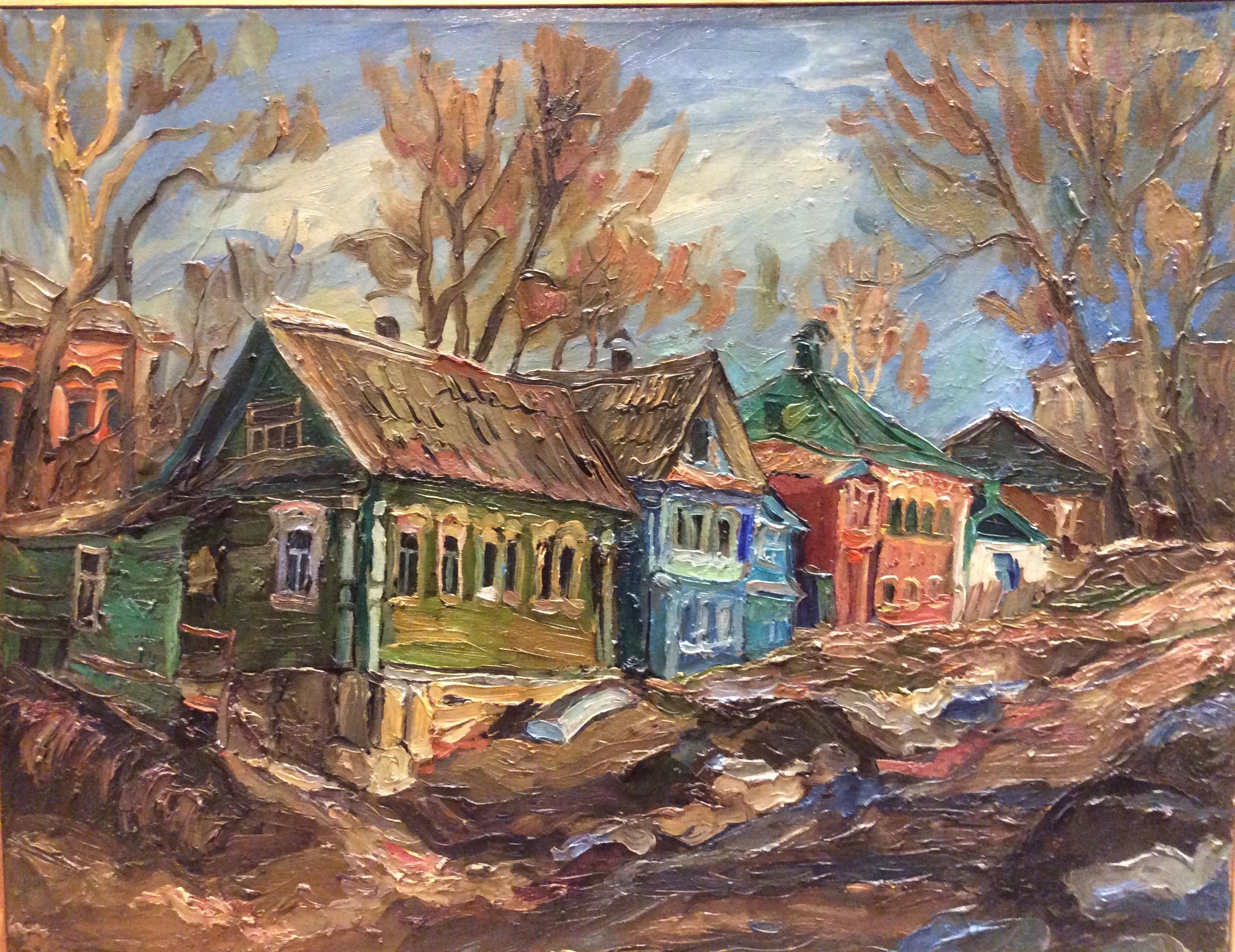"""С.Сорокин """"Светлый город Городец"""". 2010.х,м,70х90"""