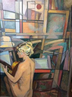 И.Еськов. Девушка с гитарой. 1973г.