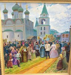 Приезд Александра II в монастырь