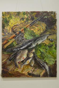 """А.Широков """"Натюрморт с рыбой"""""""