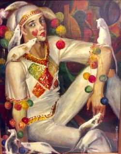 Белый клоун.2003.х,м.90х70