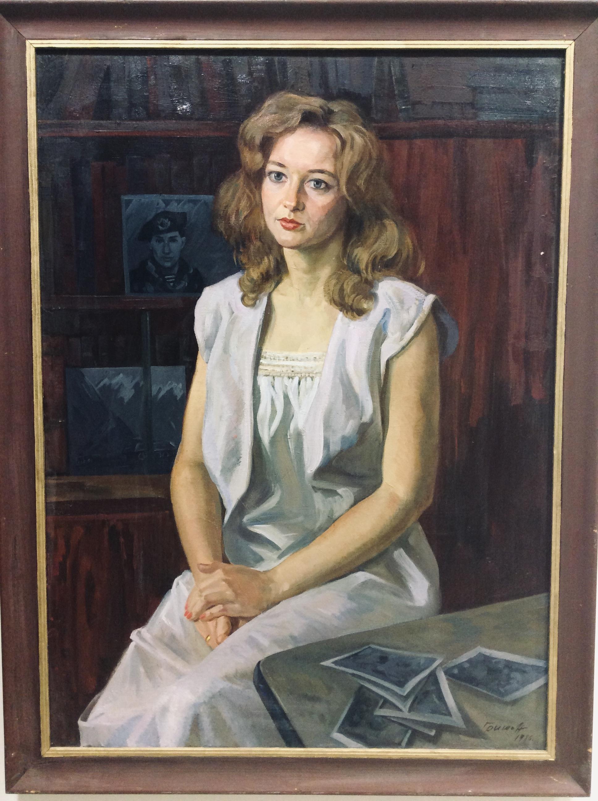 Г.Гришин. Женский портрет. 80-ые года