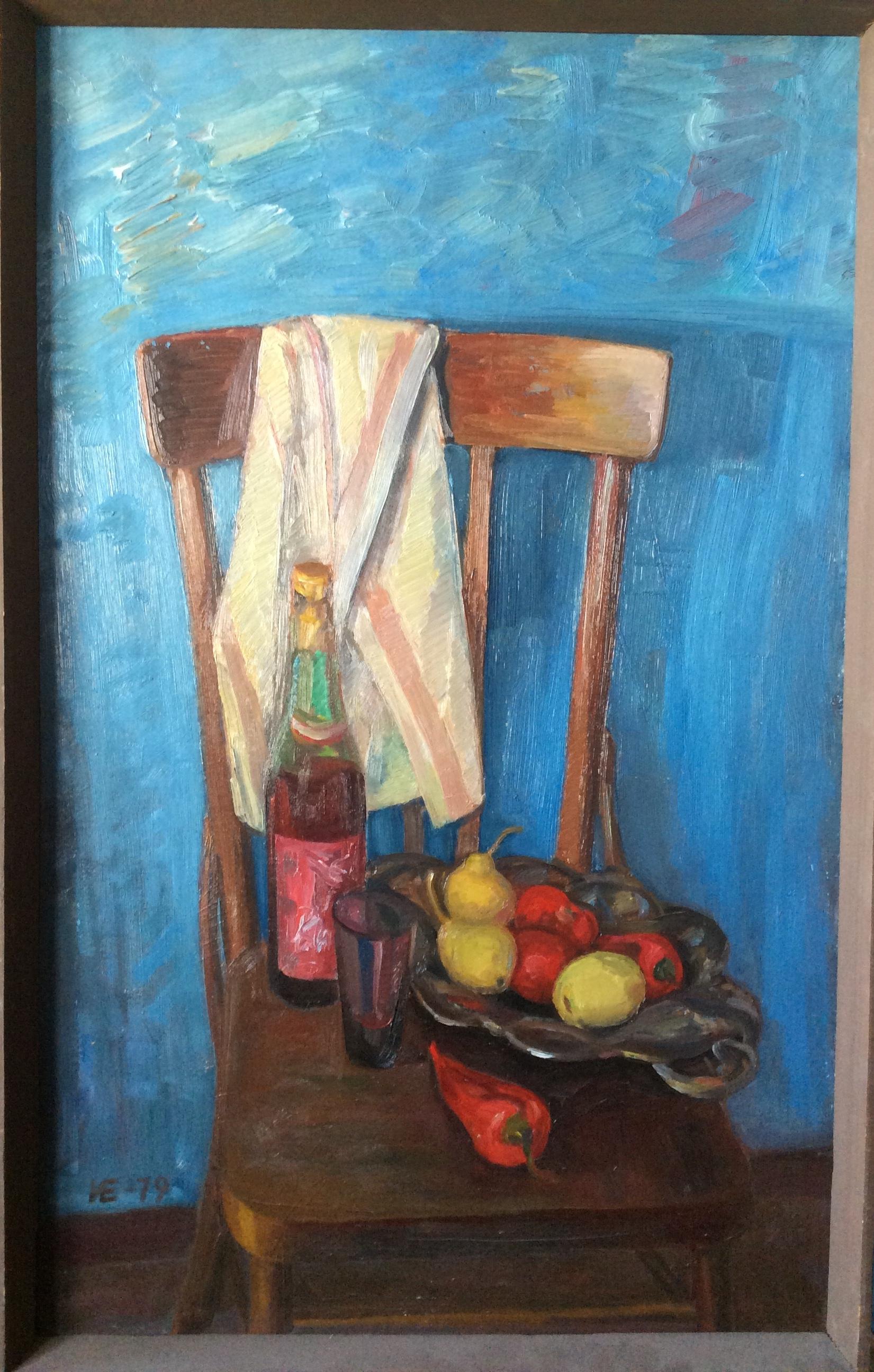 И.Еськов.Вино и фрукты.1079г.,к,м,80х50.
