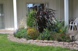 Corner flower bed